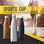 Спортивный термос-бутылка с двойными стенками 500 мл,, фото 8