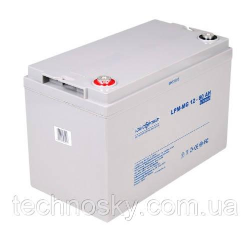 Аукмуляторна батарея LogicPower LPM-MG 12-80 AH (мультигелевый, AGM)