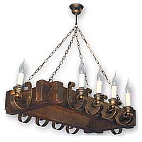 Люстра подвесная 10 свечей Е14 серии Venza 4105210