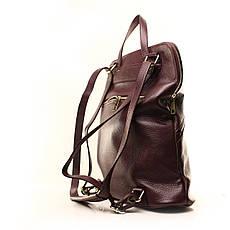 Рюкзак кожаный итальянский Casa Familia BIC0-824 бордовый, фото 2