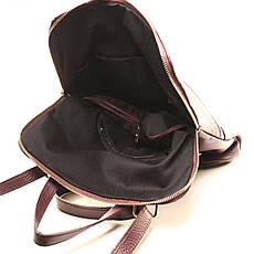 Рюкзак кожаный итальянский Casa Familia BIC0-824 бордовый, фото 3