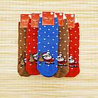 Носки женские махровые новогодние высокие Добра Пара 23-25р санта с оленем 20039653, фото 3