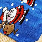 Носки женские махровые новогодние высокие Добра Пара 23-25р санта с оленем 20039653, фото 7