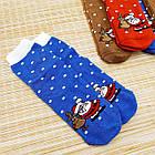 Носки женские махровые новогодние высокие Добра Пара 23-25р санта с оленем 20039653, фото 2