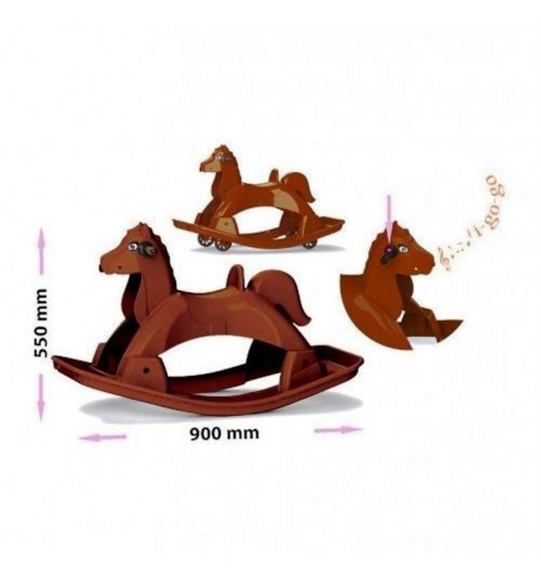 Каталка-лошадь , коричневая 05550/1