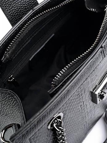 Жіноча сумка шкіряна Case 599 чорна, фото 2