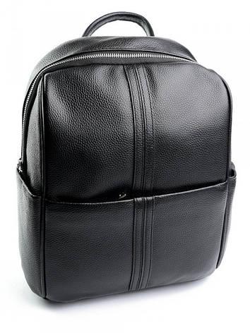 Женская сумка-рюкзак из натуральной кожи Case 87050 черная, фото 2
