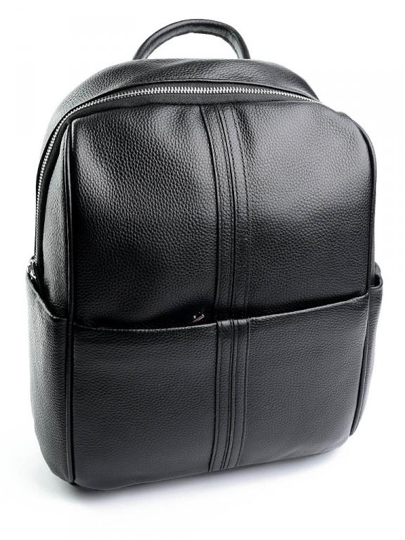 Женская сумка-рюкзак из натуральной кожи Case 87050 черная