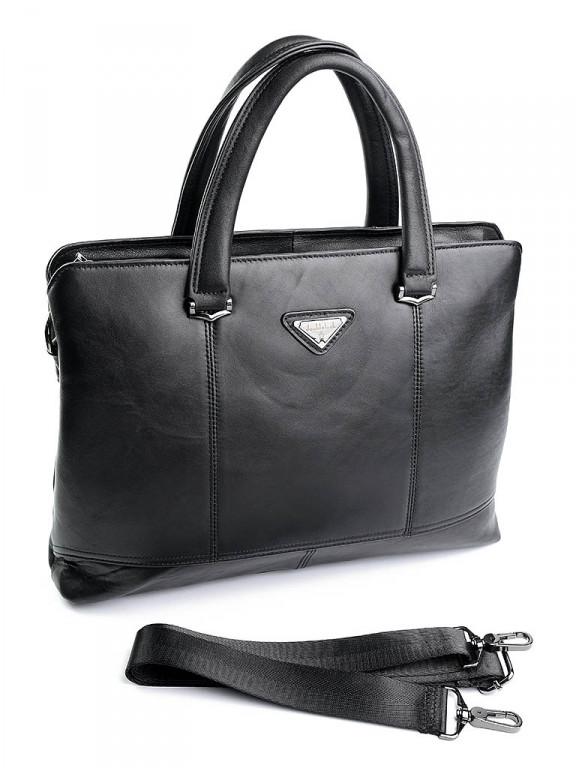 Портфель кожаный Case 8833 черный