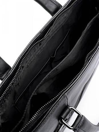 Портфель кожаный Case 8833 черный, фото 2