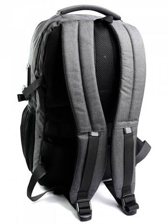 Рюкзак городской нейлон Case B00338 серый, фото 2