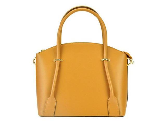 Женская кожаная сумка Silvia 202 Кэмел, фото 2