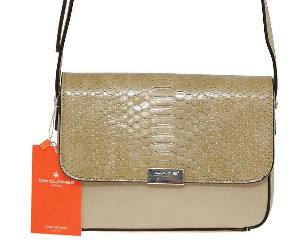 Жіноча сумка з екошкіри David Jones 5025-2 Темно-бежевий