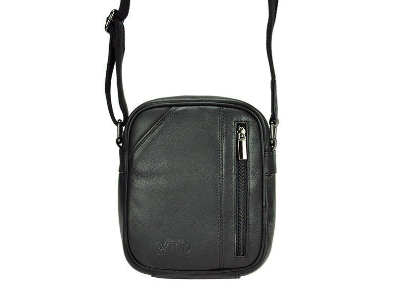 Мужская кожаная сумка Wild 8023-NDM Черный