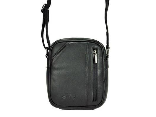 Мужская кожаная сумка Wild 8023-NDM Черный, фото 2
