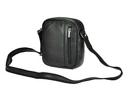 Мужская кожаная сумка Wild 8023-NDM Черный, фото 3