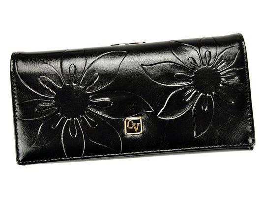 Женский кожаный кошелек Cavaldi P24-FO-16 Черный, фото 2