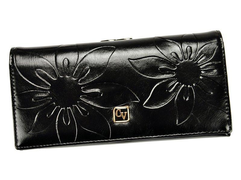 Жіночий шкіряний гаманець Cavaldi P24-FO-16 Чорний