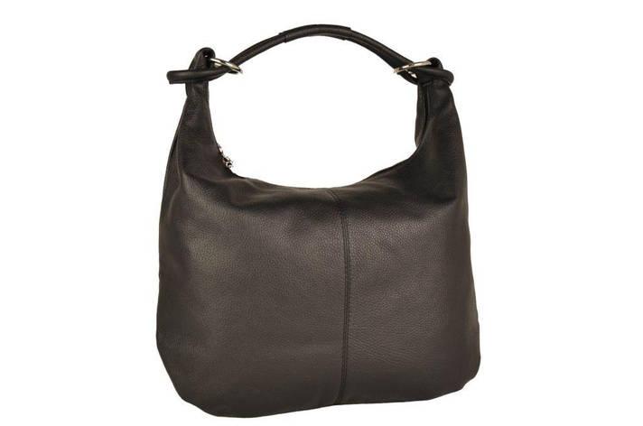 Женская кожаная сумка Toscanio 1632 Черный, фото 2