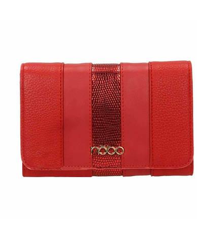 Женский кошелек из экокожи Nobo NPUR 0590 17JZ Красный, фото 2