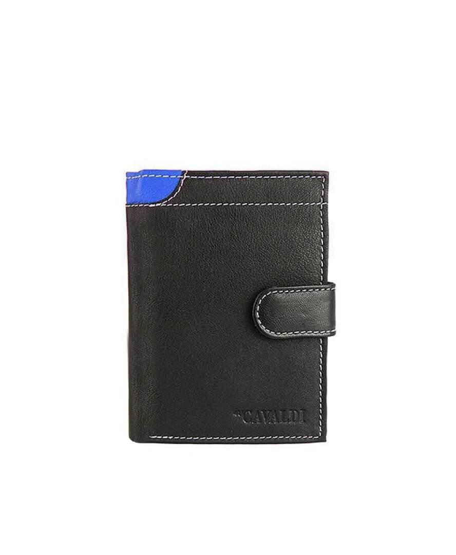 Мужской кожаный кошелек Cavaldi N4L-GDL Синий
