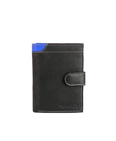 Мужской кожаный кошелек Cavaldi N4L-GDL Синий, фото 2