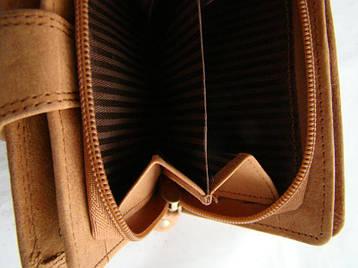Жіночий шкіряний гаманець Wild N404 CH Світло-коричневий, фото 2