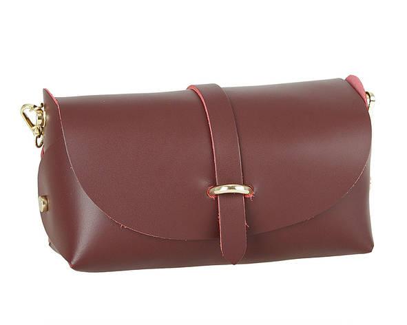 Женская кожаная сумка Carla Berry 132/17 Бордовый, фото 2