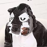 Кигуруми Волк для взрослых костюм пижама комбинезон подростковый кигуруми, фото 4