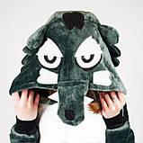 Кигуруми Волк для взрослых костюм пижама комбинезон подростковый кигуруми, фото 3