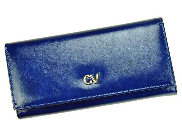 Жіночий шкіряний гаманець Cavaldi P24-17 Синій, фото 2