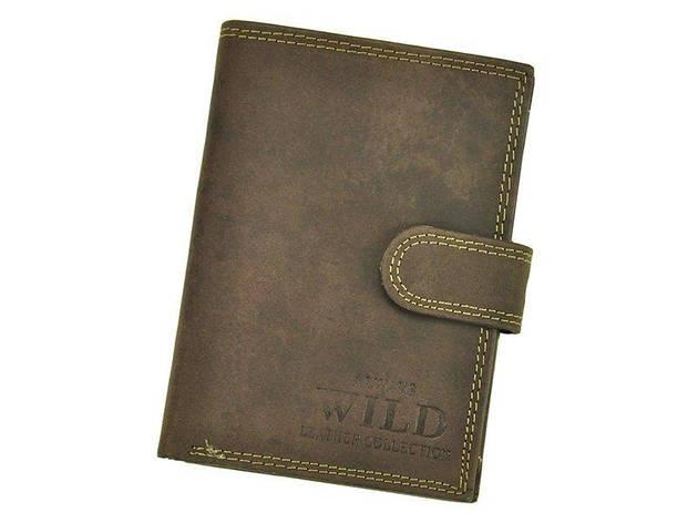 Мужской кожаный кошелек Wild N4L-MHU Коричневый, фото 2
