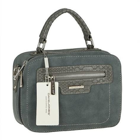 Женская сумка из экокожи David Jones CM3510 Синий, фото 2