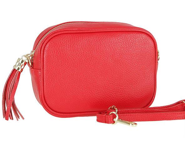 Женская кожаная сумка Carla Berry 85/17 Красный, фото 2