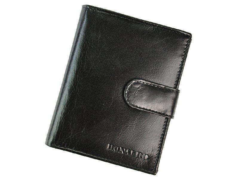 Чоловічий шкіряний гаманець Ronaldo RM-06L-CFL Чорний