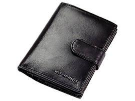 Чоловічий шкіряний гаманець Ronaldo RM-06L-CFL Чорний, фото 3