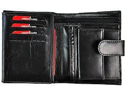 Чоловічий шкіряний гаманець Ronaldo RM-06L-CFL Чорний, фото 2