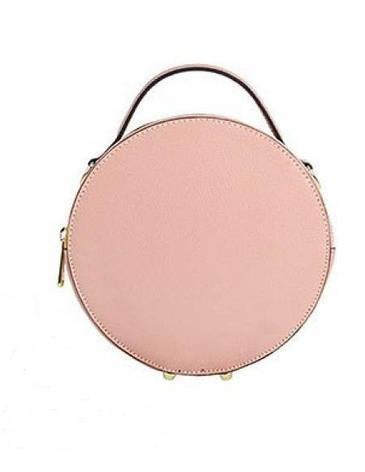 Жіноча шкіряна сумка Vera Pelle S0673 Рожевий, фото 2