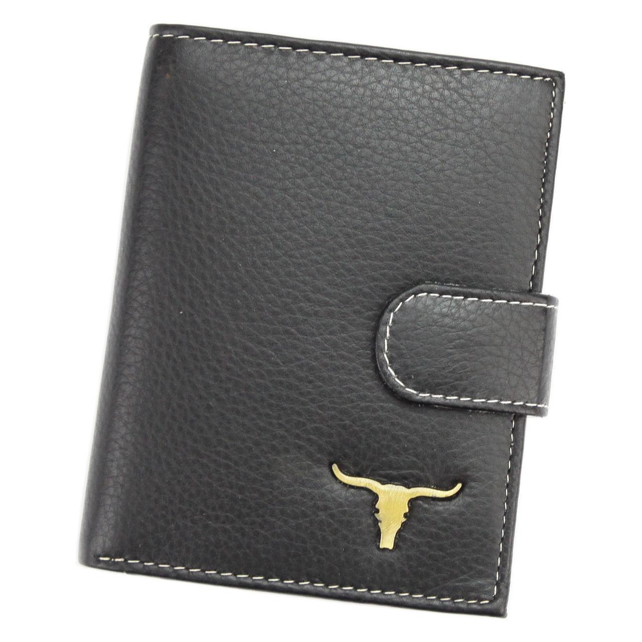 Мужской кожаный кошелек Wild RM-03L-BAW3 Черный