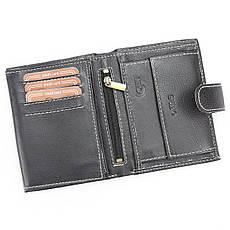 Мужской кожаный кошелек Wild RM-03L-BAW3 Черный, фото 3