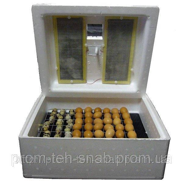 Инкубатор Несушка 220\12в на 104 яйца с автоматическим переворотом яиц с резервным питанием и цифровым термор.