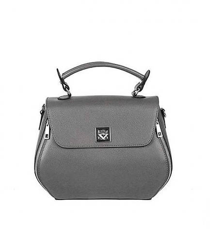 Жіноча шкіряна сумка Vera Pelle S0578 Сірий, фото 2