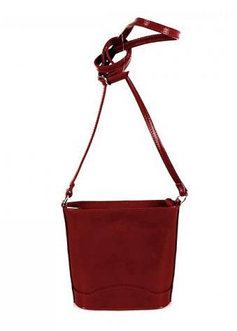 Женская кожаная сумка Vera Pelle S0178 Темно-красный, фото 2