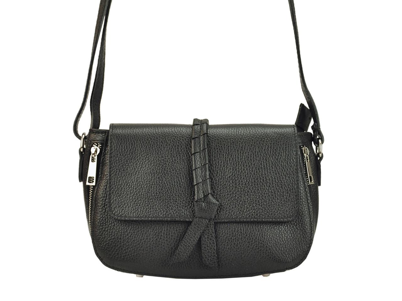 Женская кожаная сумка Patrizia Piu 418-050 Черный