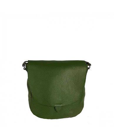 Жіноча шкіряна сумка Vera Pelle S0728 Темно-зелений, фото 2