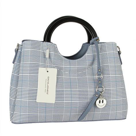 Женская сумка из экокожи David Jones CM5193 Голубой, фото 2