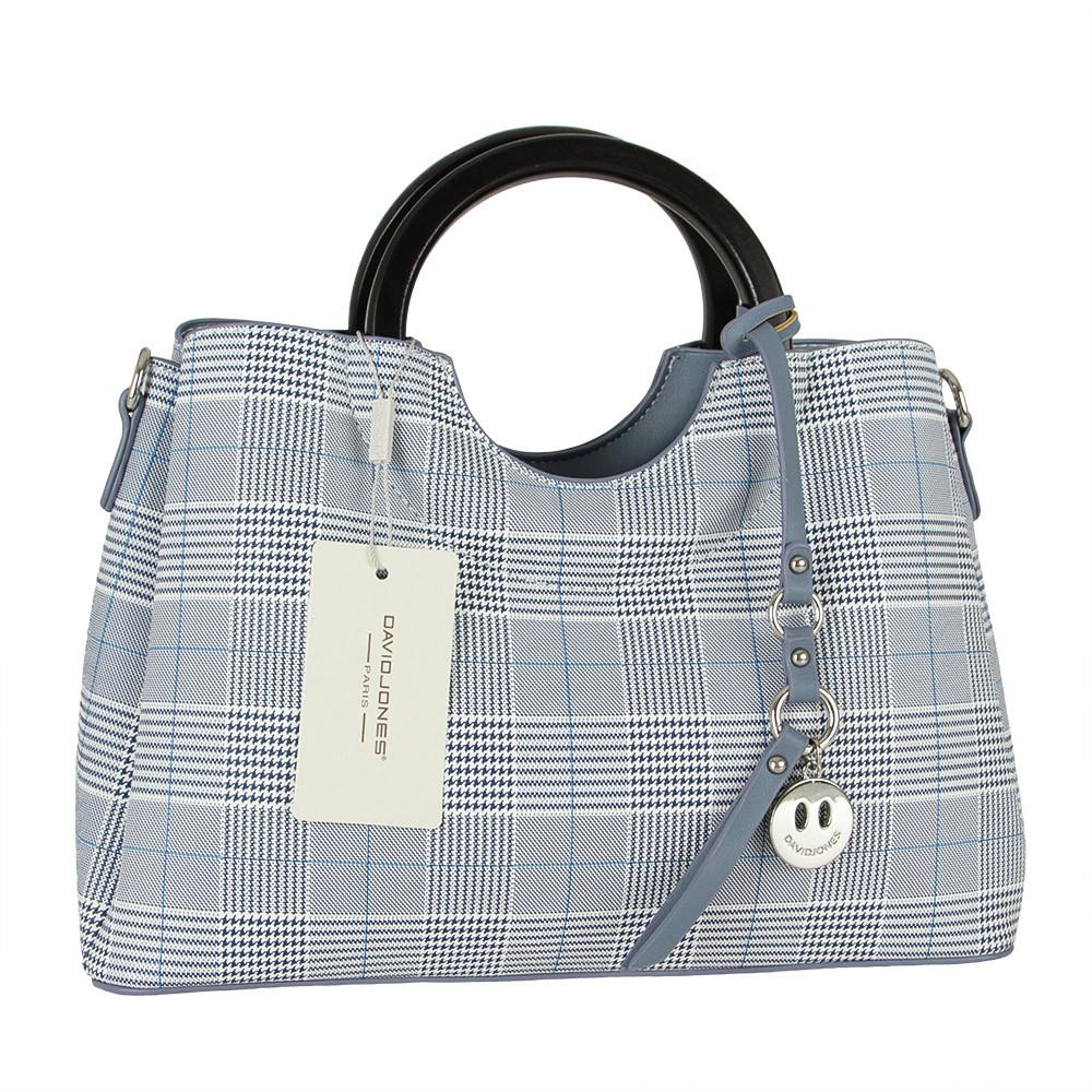 Женская сумка из экокожи David Jones CM5193 Голубой