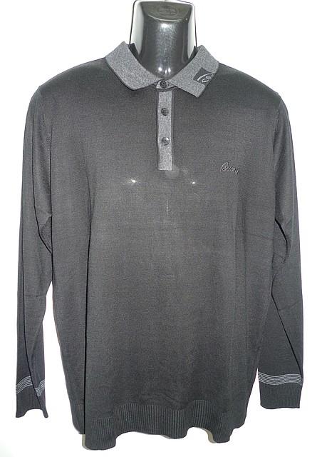 Черная мужская рубашка поло Brioni