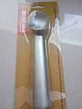 Ложка для мороженого цельная металл, фото 2