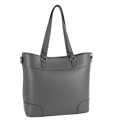 Женская кожаная сумка Carla Berry 122/18 Серый, фото 2
